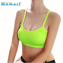 Womail Sexy  Pure Women Lady Sports Yoga Athletic Solid Wrap Chest Strap Vest Tops Bra  Jun24