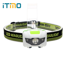 Professional Lighting 4 Modes Waterproof LED Flashlight Super Bright Headlight Headlamp Torch with Soft Elastic Headband