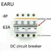 4P 63A DC 1000V DC Circuit Breaker MCB für PV Solar Energie Photovoltaik System Batterie C kurve CB zertifiziert Din Schiene Montiert
