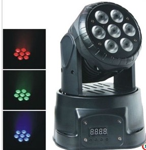 8pcs/lot led light source 7pcs*10W 4 IN 1 rgbw mini led moivng head wash stage light for KTV disco lighting for night club trending hot products 7pcs 10w 4 in 1 rgbw led wash mini moving head dj light dmx512 holiday lighting for club disco decorations