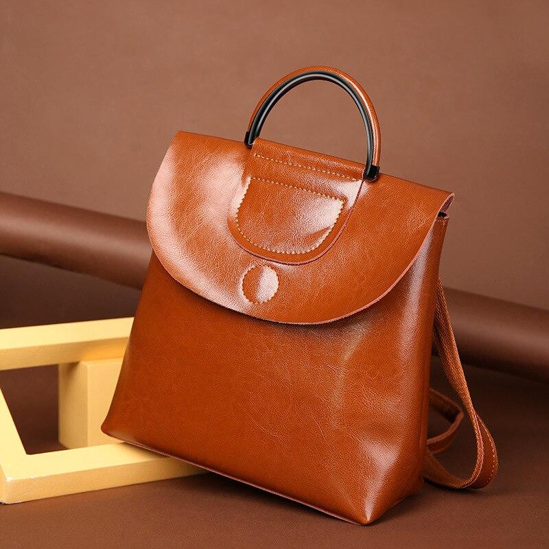 SMILEY SUNSHINE femme sac à dos en cuir véritable sac à bandoulière vintage pour les femmes sac d'école de mode pour adolescente sac à dos nouveau