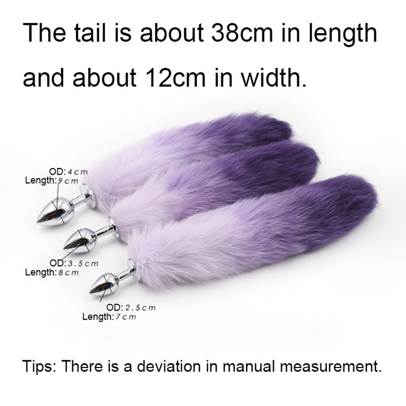 Fanala Drop Shipping Lovely Fox Tail Butt Metal Plug Animal Role Play Cosplay Sex Products Anal Sex Toy White&purple White&pink Beauty & Health
