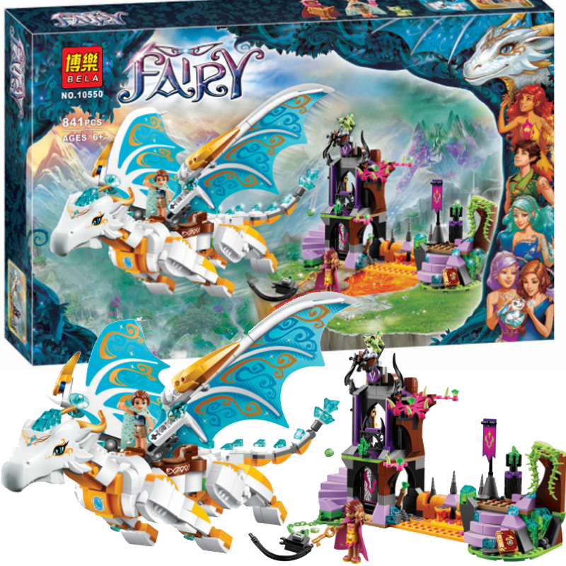 ФОТО New Arrivals Bela 10550 Elves Queen Dragon's Rescue Building Bricks Blocks DIY Educational Toys Compatible with Lepin 41179 Toys