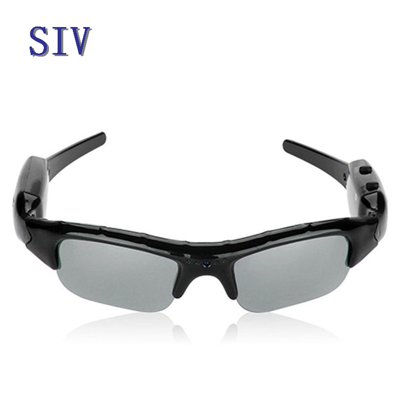SIV 1 PC SIV HD Glasses Digital Camera Sunglasses Eyewear DVR Video Recorder Camcorder eyewear sunglasses camera support tf card music video recorder dvr dv mp3 camcorder music glasses with earphone