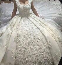 Plus Size Full Lace Luxury Ball Gown Wedding Dresses 2019 robe de mariage vestido de noiva Princess Bridal Gown Wedding Gown стоимость