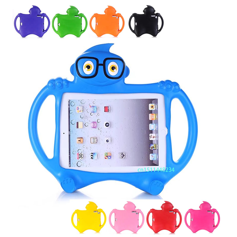 For iPad 2 3 4 9.7 Kids Baby Safe Armor Shockproof Heavy Duty Silicone Cartoon Protector Case Cover for IPAD 3 2 iPad 4 +Stylus for amazon 2017 new kindle fire hd 8 armor shockproof hybrid heavy duty protective stand cover case for kindle fire hd8 2017