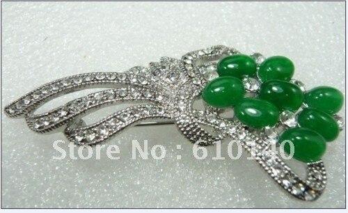 3 шт. TT187W стильный зеленый e броши