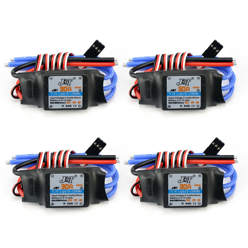 4PCS/lot JMT 30A Speed Controller Brushless ESC For DIY FPV RC Quadcopter F450 Multi-Rotor Aircraft Helicopter mr rc 40a brushless esc speed controller for rc f450 f550 multirotor aircraft remote helicopter radio controlled a676