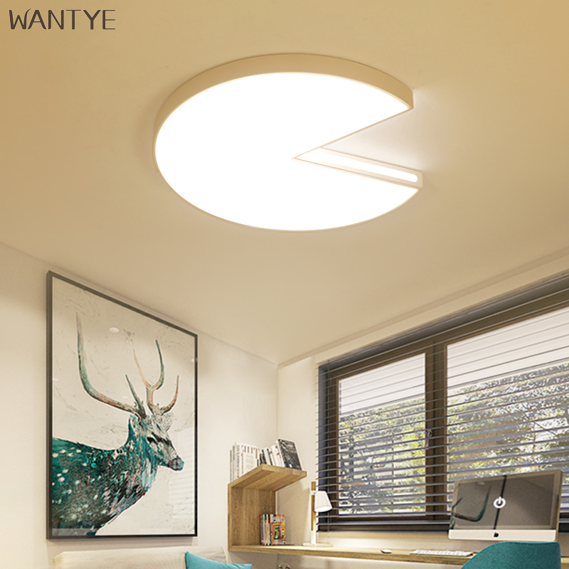 Acrylic Modern Luminaria Ceiling Lamp White Round LED Ceiling Light Bedroom Living room lighting fixtures with Remote Control round led ceiling light white modern acrylic ceiling lamp dimmable with remote control for kids bedroom lighting fixtures