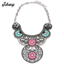 Big Necklace Women 2016 Maxi Necklace Pendants Collier Femme Vintage Fashion Choker Collar Accessories Female Crystal