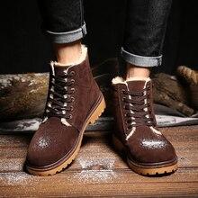 New Wholesale Winter Boots Men s Casual Shoes Boots Plus Velvet Warm Shoes Help Low Suede