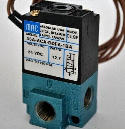 Free shipping MAC type 24V Drip molding machine High Frequency Valve; Model 35A-ACA-DDFA-1BA (35AACADDFA1BA) free shipping mac high frequency solenoid valve ba1 ddfa 24v dc