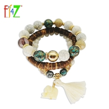 Bangles Bracelets Beaded Tassel 3packed Charms Vintage Women's Fashion F.J4Z Bohemia