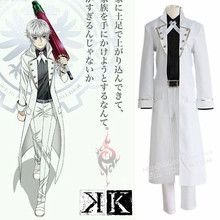 Yashiro Isana Cosplay Costumes Japanese Anime K RETURN OF KINGS Full Set Free Shipping (Cloak + Shirt + Pants + Belt + Bowtie)