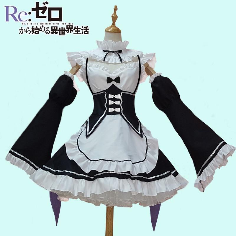 Új Cosplay Lolita ruha Női Gothic Maid csipke Cosplay jelmez - Jelmezek