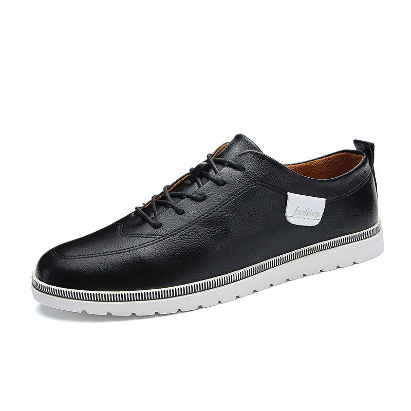 Fmzxg ATX 131-145 Весна удобная модная обувь 2018 Для мужчин Кружево-Up Твердые Повседневная кожаная обувь для Для мужчин повседневная обувь Лидер про...