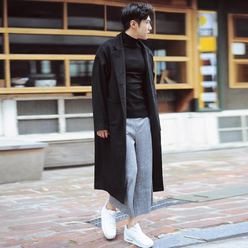 Manteau ultra long homme