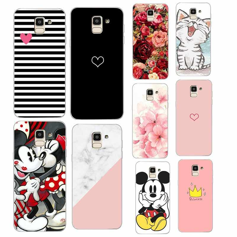 Luxury Case for Samsung Galaxy J8 2018 Cover j810 Silicone Back Cover TPU Fundas for Samsung J4 J6 2018 A50 A30 S7 edge Case