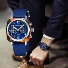 Vintage Vierkante Chronograaf Quartz Horloges Unisex Datum Waterdichte Sport Heren Horloges Canvas Band Fashion Vrouwen Horloge Gift