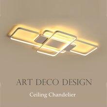 Dar moderno led lustre de teto iluminação sala estar quarto alumínio quadrado lustre moderno lampadario lustres casa interior
