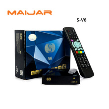 2pcs S-V6 Mini HD Satellite Receiver V6 Support CCCAMD Newcamd WEB TV USB Wifi 3G Biss Key Youporn Weather Forecast  DLNA