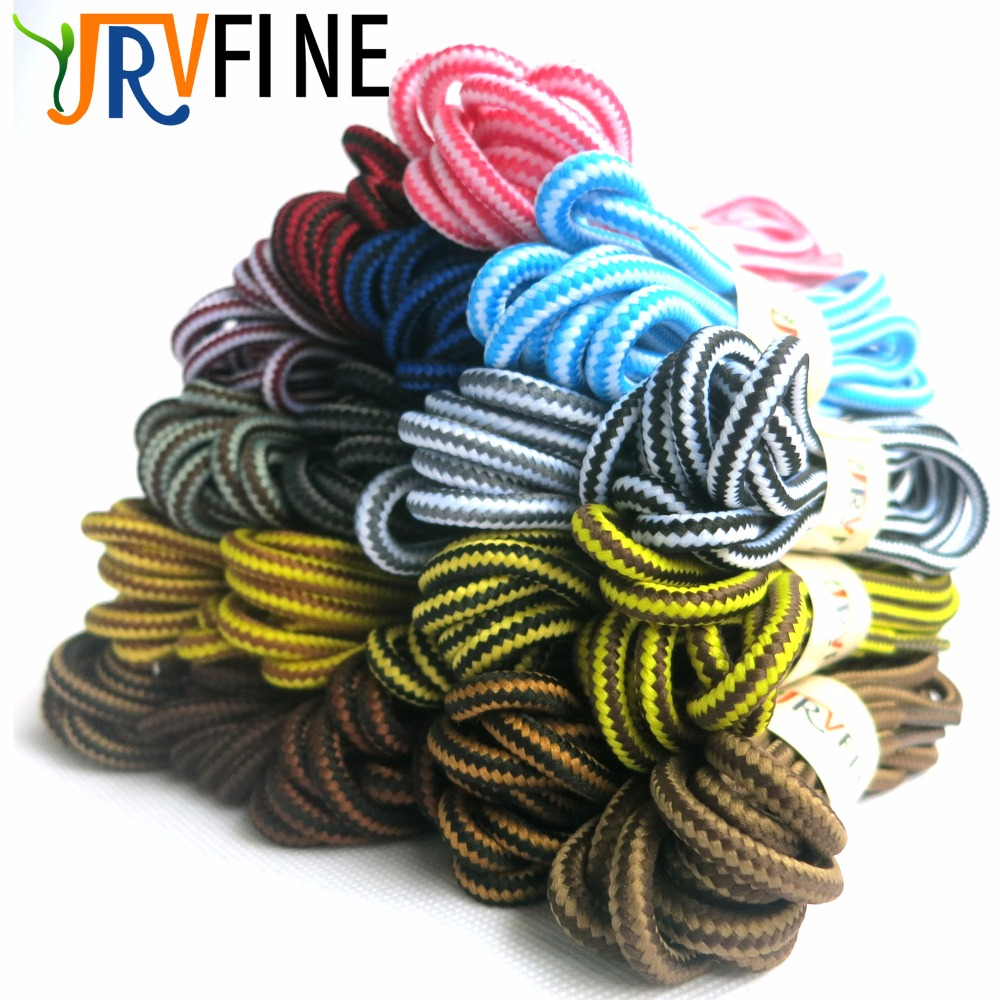 1 Pair Round Striped Sneaker Shoe Laces Strings Hiking Shoelaces for Work Leather Shoes  ...