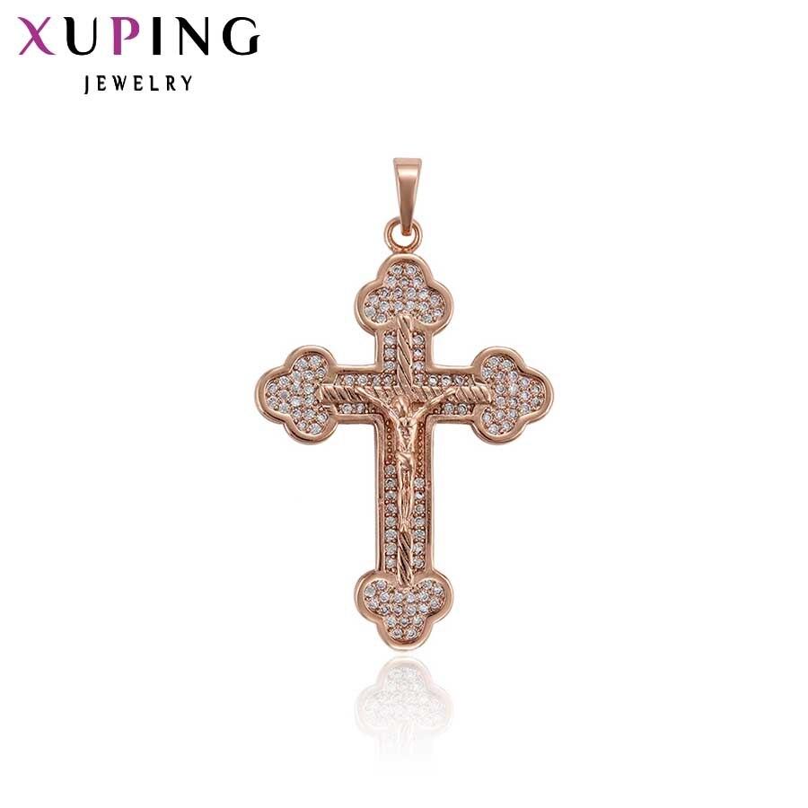 11,11 сделок Xuping Мода Религиозные крест кулон с Синтетические ювелирные изделия CZ для Для женщин подарок на день матери S91.2-33660