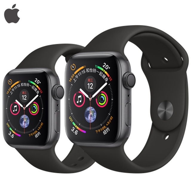 huge discount b6a70 ee423 US $445.28 |Brand New Apple Watch Series 4 40/44mm Silver/Space Gray/Gold  Aluminum Case with Sport Band Heart Sensor Falling Detect GPS -in Smart ...