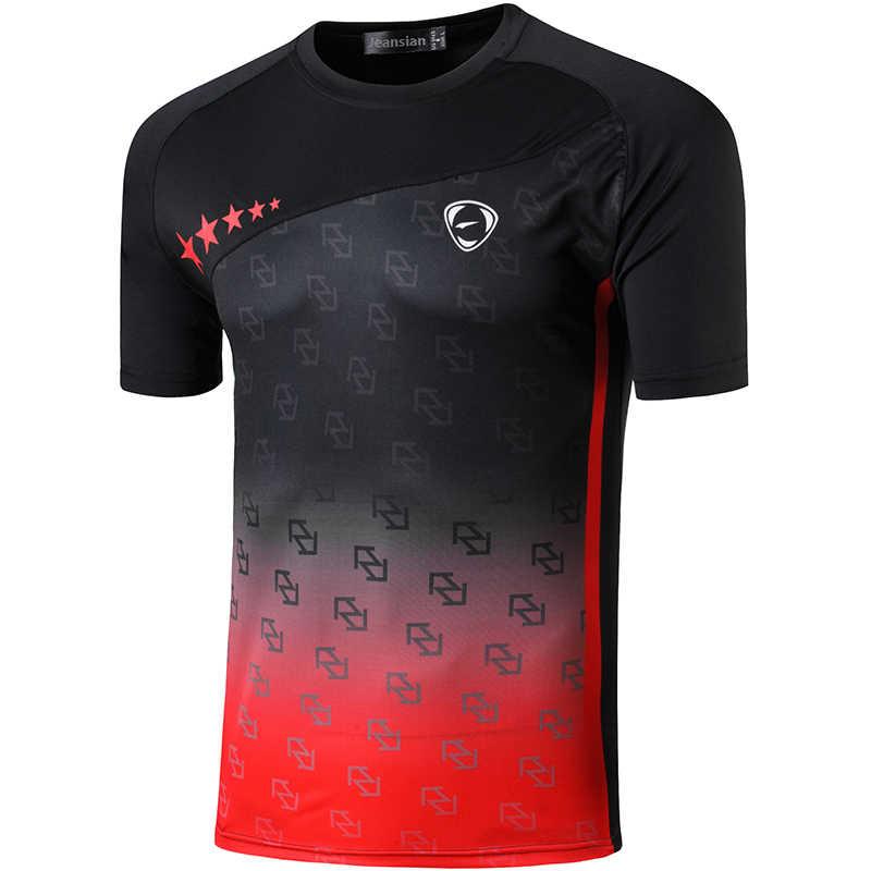 Jeansian 남자 티셔츠 티셔츠 티셔츠 스포츠 반팔 드라이 피트 러닝 운동 운동 LSL264 Black2