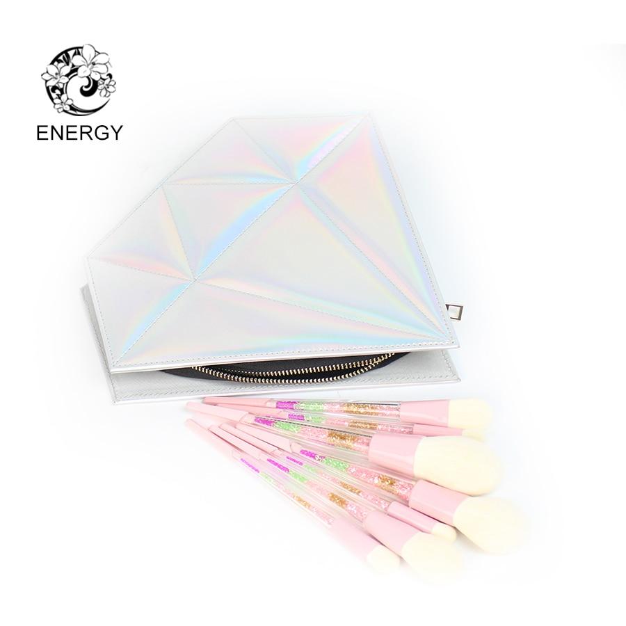 ENERGY Marka 8 sztuk Kolorowe Diament Uchwyt Rainbow Pędzle Do - Makijaż - Zdjęcie 2