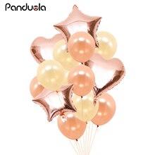 Rose Gold Pink Balloon Confetti Balloons Bride To Be Foil Ballon Mariage Air Babyshower Girl Balls For Birthday
