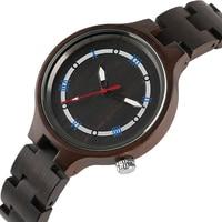 Creative Full Wood Watch Blue Roman Numbers Circle Dial Handmade Natural Wooden Wristwatch Women Sports Outdoor Clock