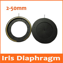 Best Buy 2-50mm Amplifying Diameter Zoom Optical Iris Diaphragm Aperture Condenser with 11 Blades for Digital Camera Microscope Adapter