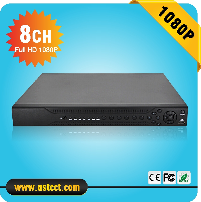 8CH AHD 1080P DVR with 2USB 2 SATA 8 Channel Video input AHD Recorder For IP AHD Analog Camera and IP PTZ Camera