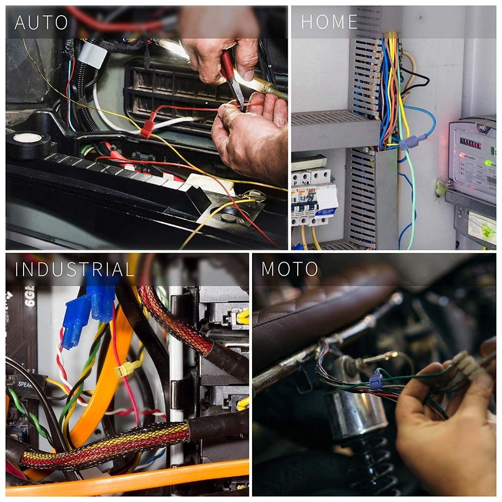 600 Wire Butt Connectors Red//Blue//Yellow Nylon 200 Each Car Audio Crimp Terminal