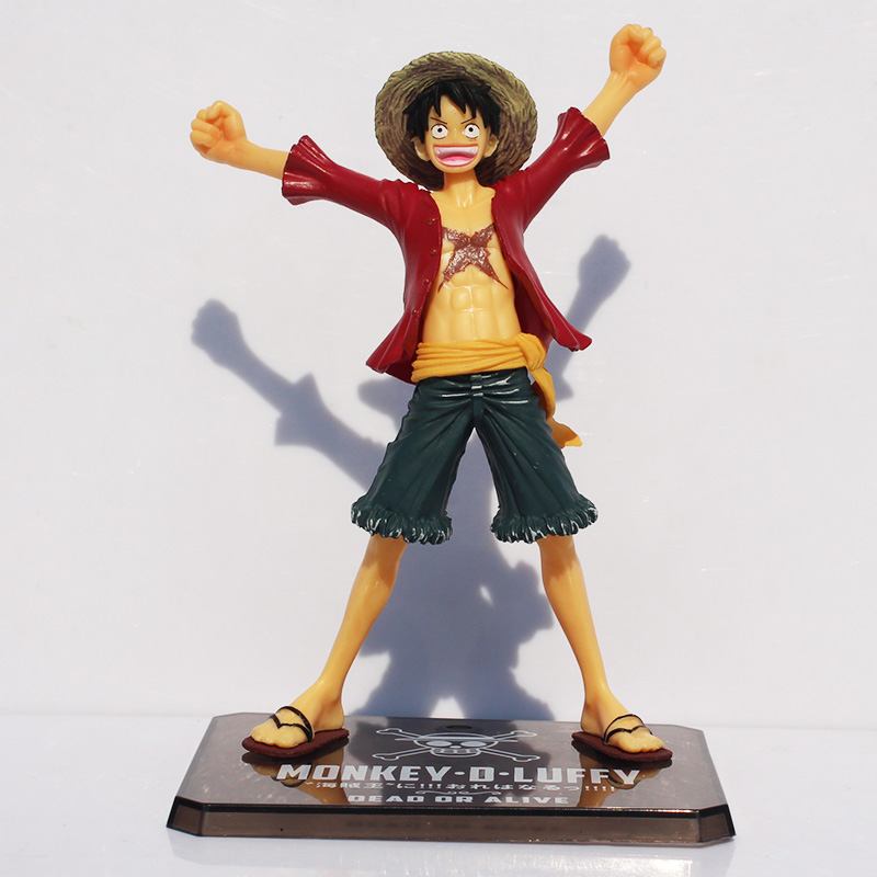 Us 4 59 27 Off 15cm Anime One Piece Luffy Figure For The New World Monkey D Luffy Pvc Action Figures Toy Collectable Model Doll In Action Toy