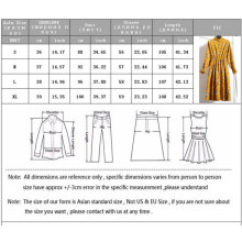 New Autumn Winter Women Party Dresses 2018 Casual Elastic Waist Stand Neck Printed Corduroy Dress Vintage Midi Bodycon Dress