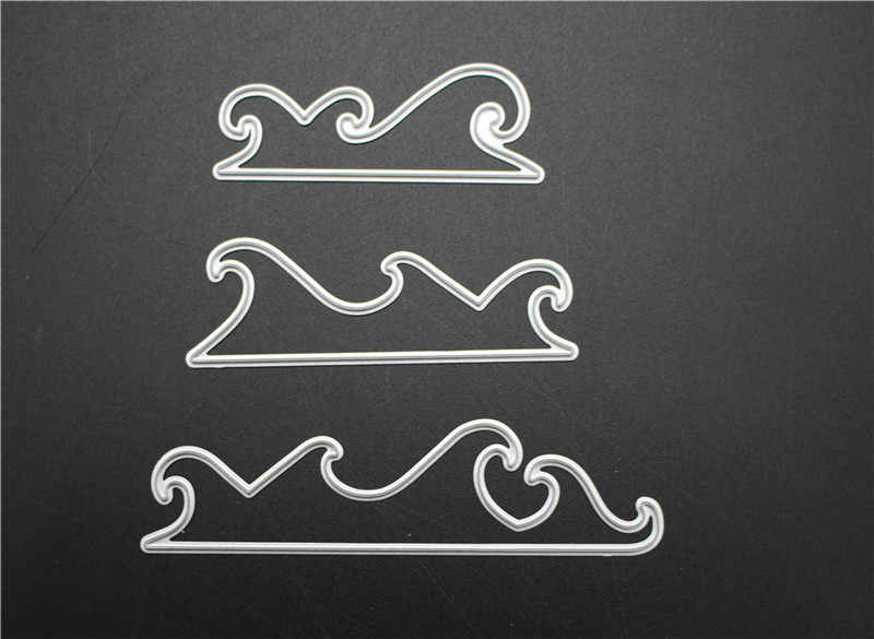 Sea Waves Metal Cutting Dies For Scrapbooking Stencils DIY Album Paper Cards Decoration Embossing Folder Die Cuts Template