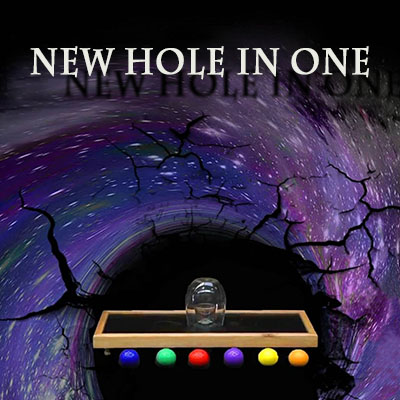 New Hole In One Magic Tricks Amazing Stage Selected Ball Appear Inside Glass Magia Mentalism Illusion Gimmick Props Magician