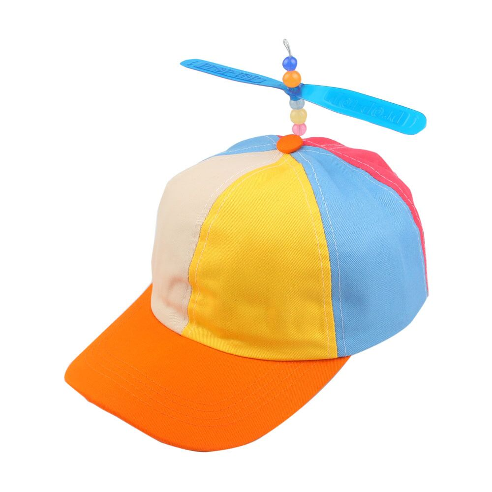 de vară Coreeană Copil Adult Reglabil Propeller Ball Baseball Cap Dragonfly Top Multi-Culoare Patchwork Funny Clown Sun Costum Costum