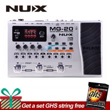 купить NUX MG-20 Guitar Multi-effects AMP Pedal Black Digitech Multi Effects Modeling Processor Guitarra Loop/ Volume недорого
