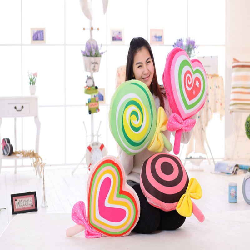1PC 50X35Cm plush Lovely Candy pillow Blanket (80x100Cm) 3 in 1 Air Conditioner blanket Cute Baby Qulit birthday Christmas gift