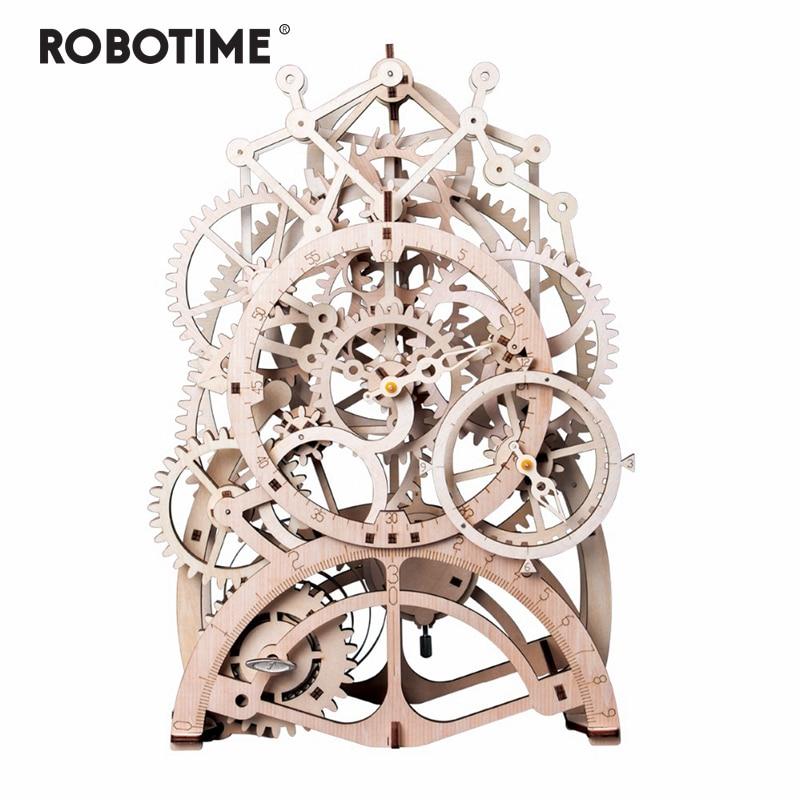 Robotime 4 вида DIY лазерной резки 3D механическая модель игра деревянная головоломка сборки игрушка в подарок для детей и взрослых дропшиппинг