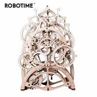 Robotime 4 вида DIY лазерная резка 3D механическая модель игра деревянная головоломка сборка игрушка подарок для детей и взрослых дропшиппинг