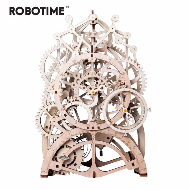 Robotime 4 Kinds DIY Laser Cutting 3D Mechanical Model Wooden Model Building Kits Assembly Toy Gift for Children Adult