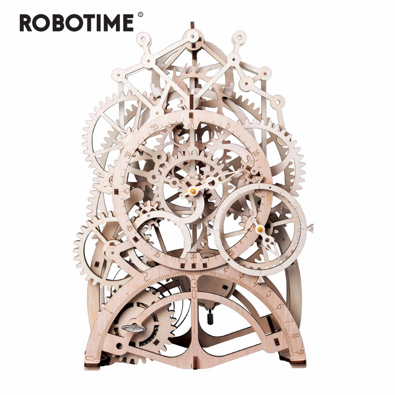 Robotime 4 Kinds DIY Laser Cutting 3D Mechanical Model Wooden Puzzle Game Assembly Toy Gift for Children Adult for Dropshipping