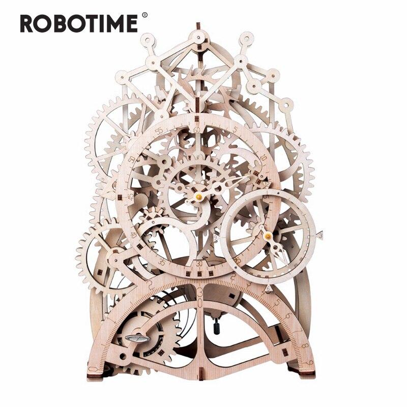 Robotime 4 sortes bricolage Laser découpe 3D modèle mécanique en bois Puzzle jeu assemblage jouet cadeau pour enfants adultes pour livraison directe
