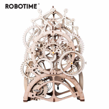 Robotime Wooden Puzzle Toy Mechanical-Model Game-Assembly Laser-Cutting-3d Adult Children