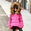 Девушки пальто куртки зимние куртки девушки детей детская одежда вниз пальто куртка корейский для 4 ~ 14 год рождения новый год мода FL52