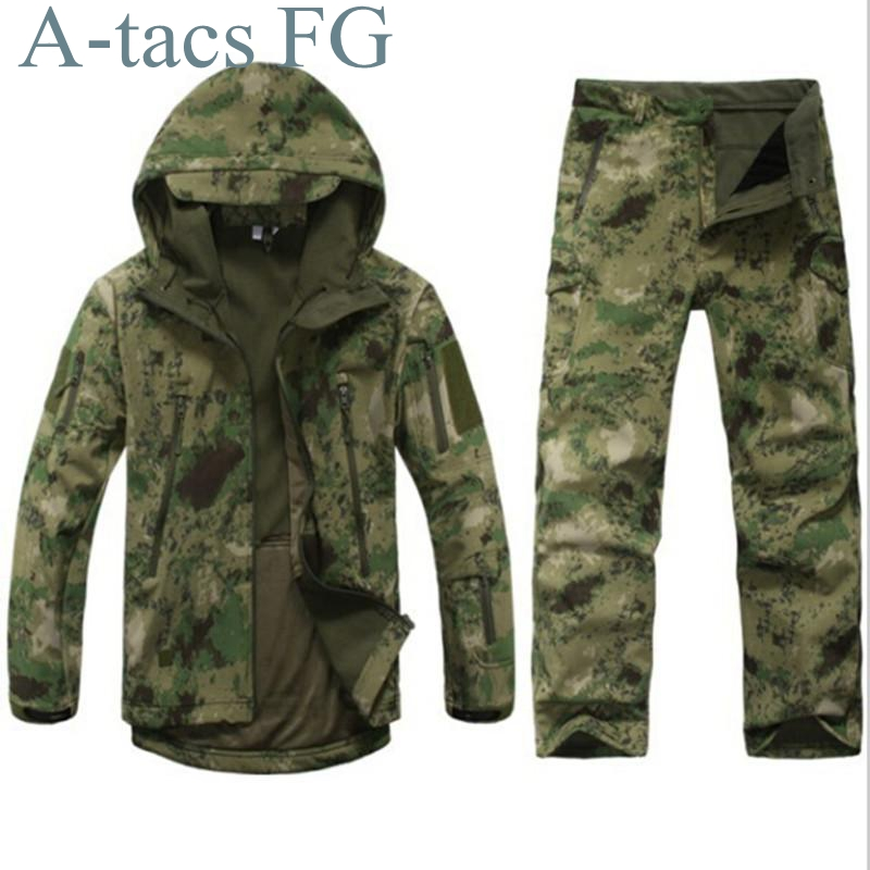 2016 Mens Outdoor Hiking Jacket Military Army Tactical Coat TAD Gear Hunting Camping Jacket A tacs fg